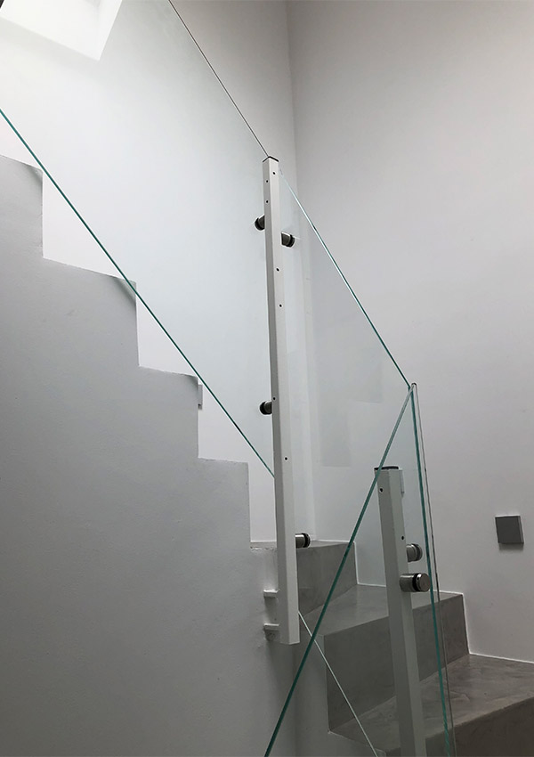 Glastreppe Glasgeländer Geländer Glas