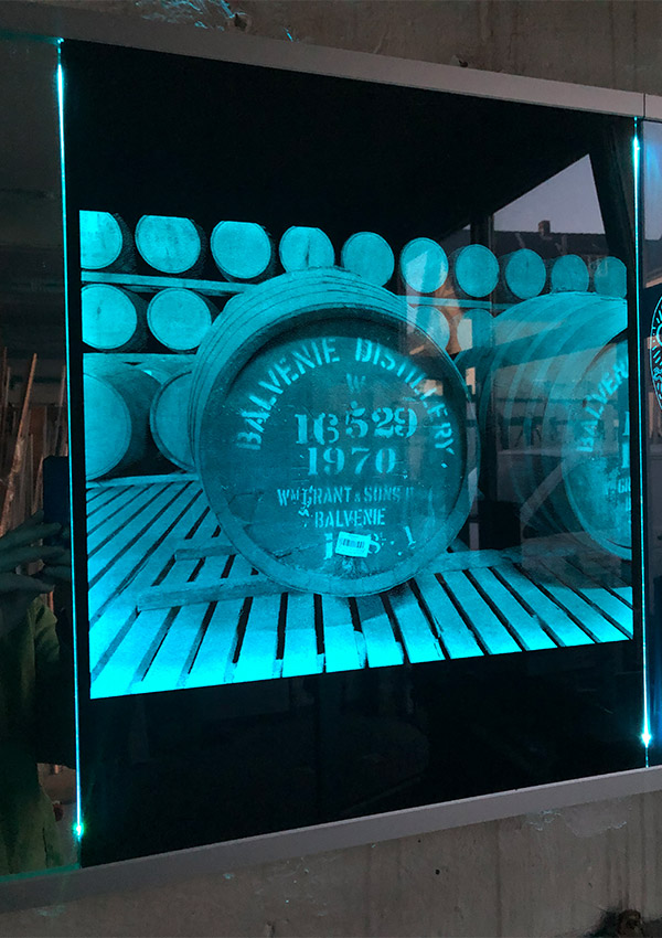 Glaslaser Laser Glas modern LED